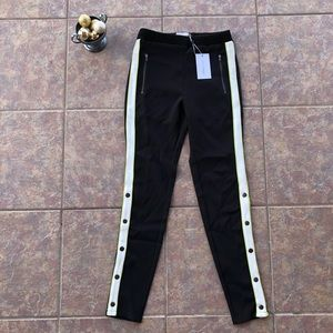NWT Lovers + Friends Black Neon White Joggers XS